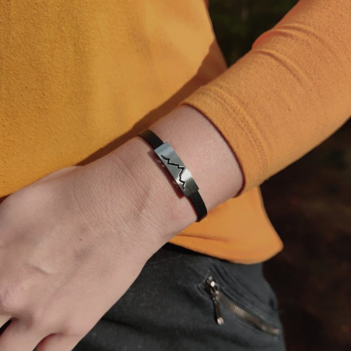 Alpenblick Karree Armband Lederband Model 2020-10 V1 Webseite