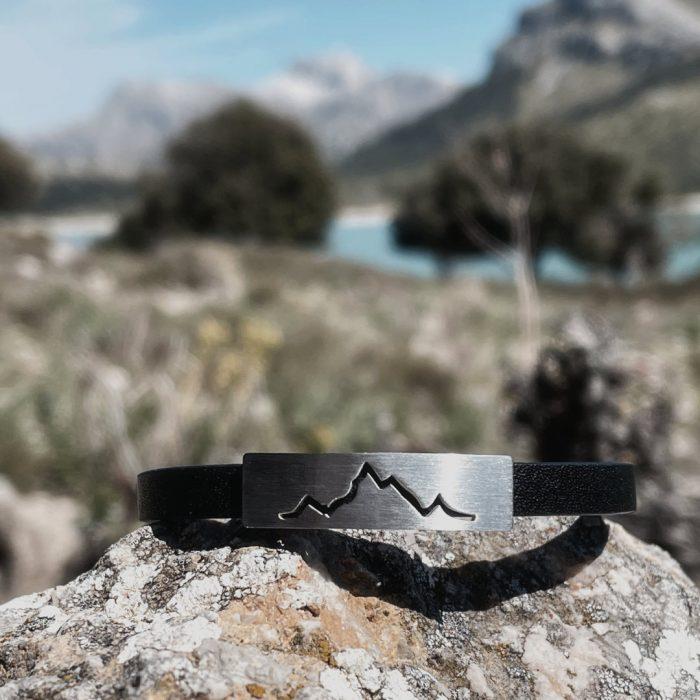 Alpenblick Karree Lederarmband Mallorca Cuber Stausee