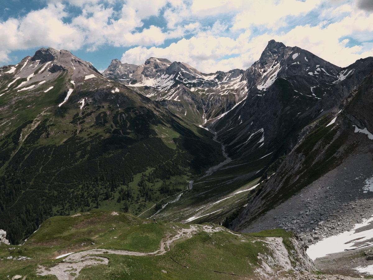 Vorderseespitze, Feuerspitze und Wetterspitze mit Kaiserbach