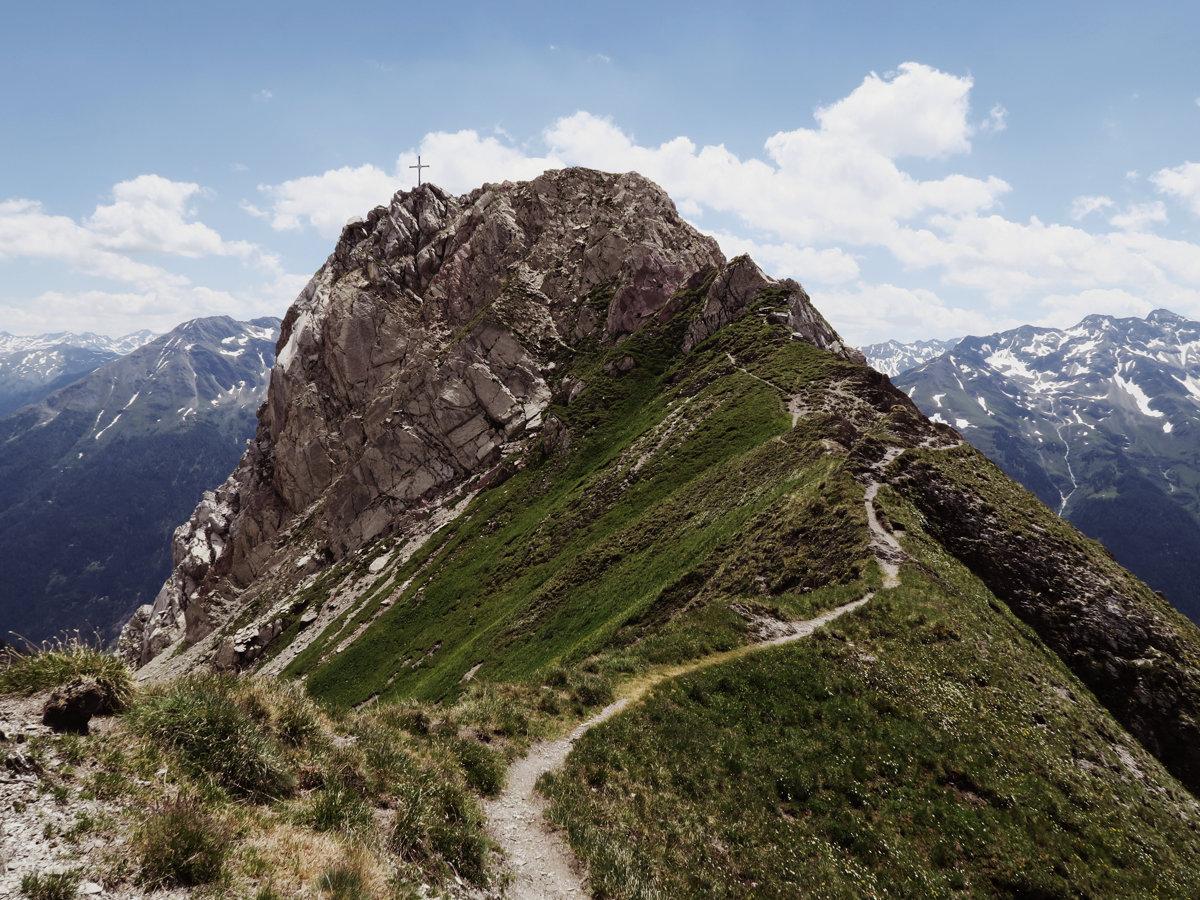 Gipfel des Malatschkopf in Sicht