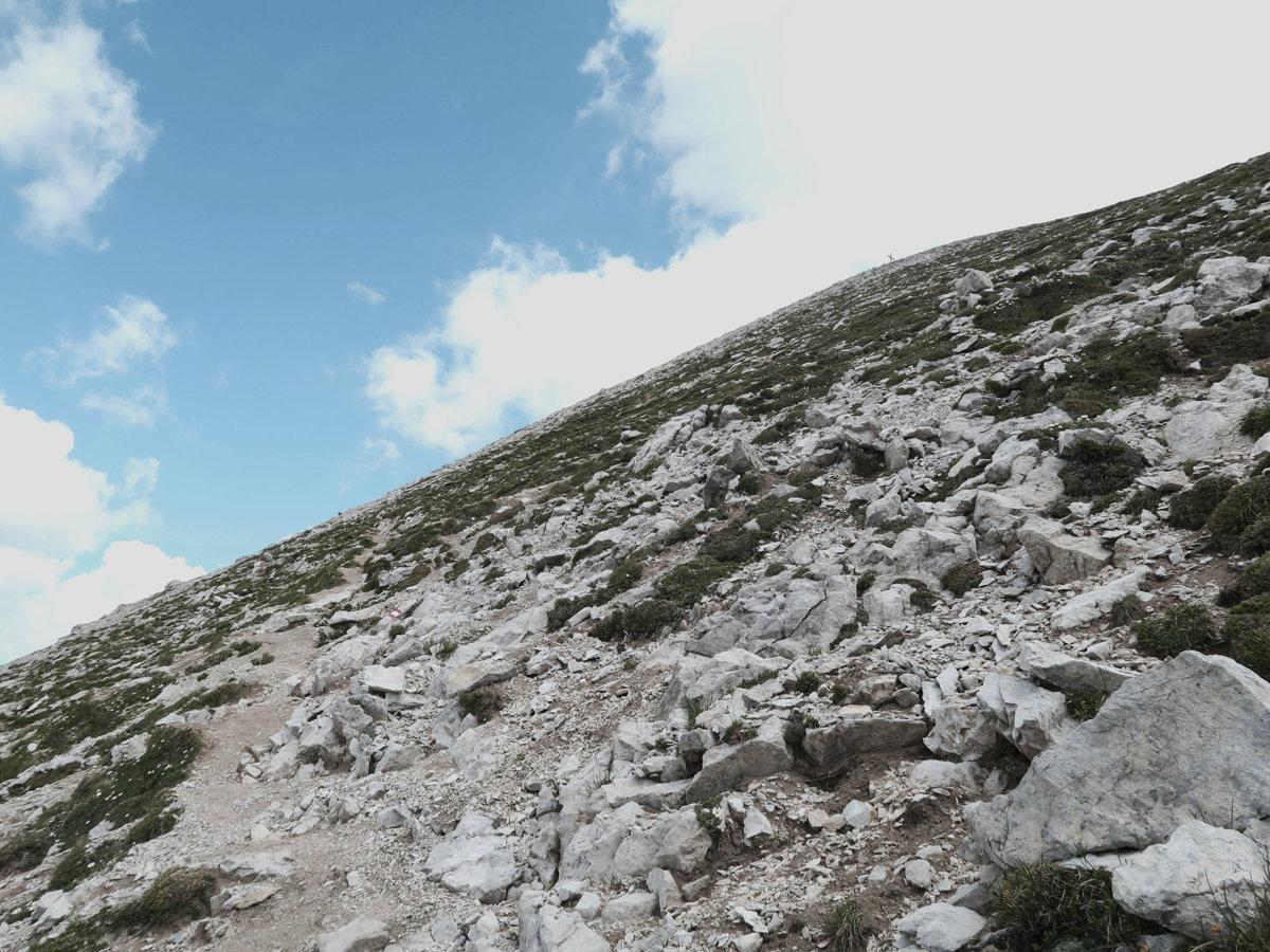 Wanderung auf den Grießkopf - Schotter und Geröll