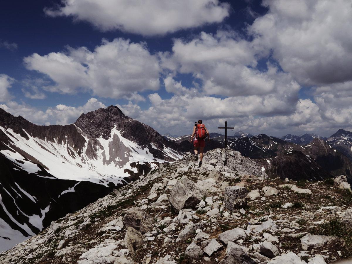 Die letzten Meter zum Gipfel des Grießkopfes
