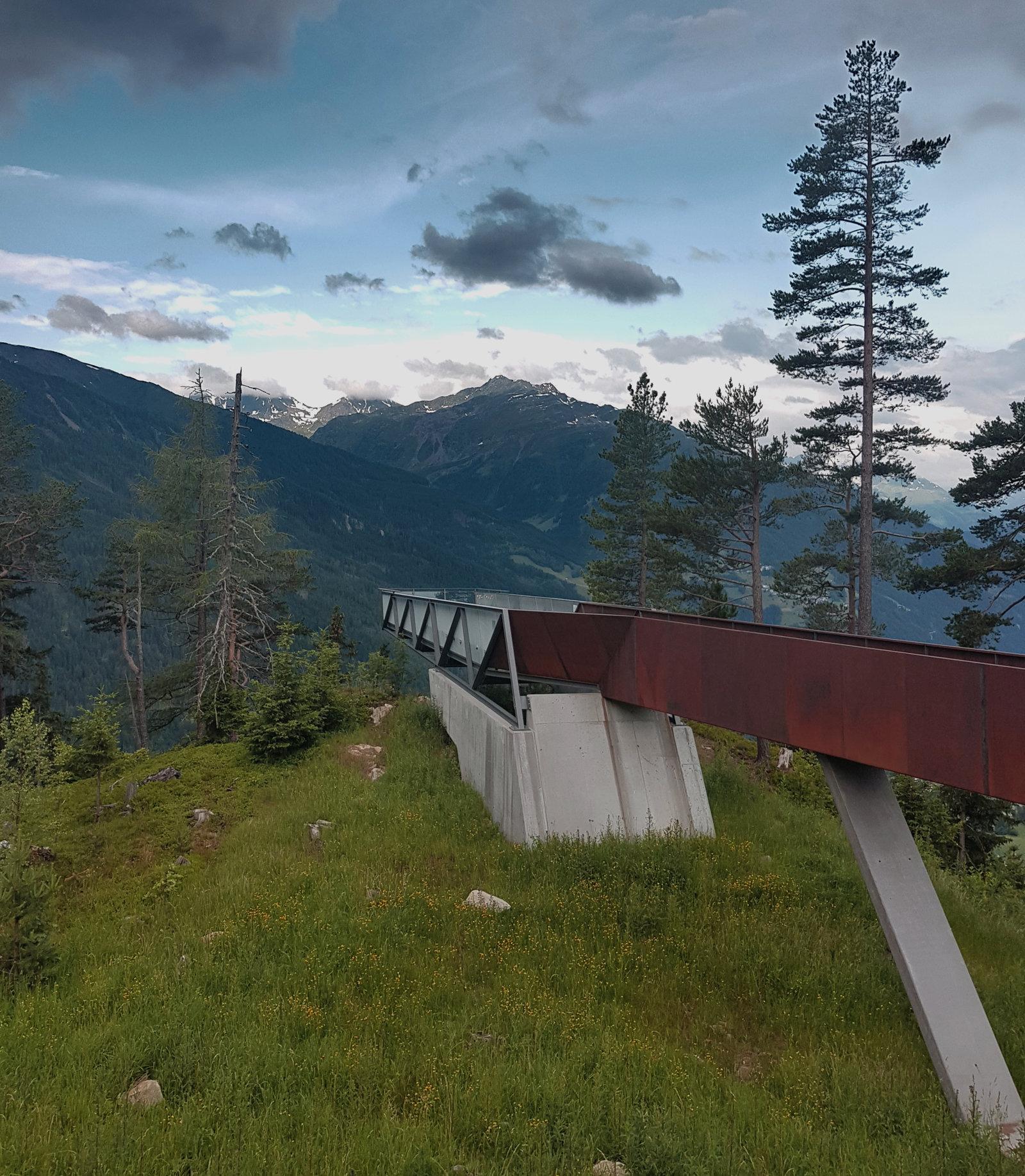 Plattform Gacher Blick Naturparkhaus Kaunergrat