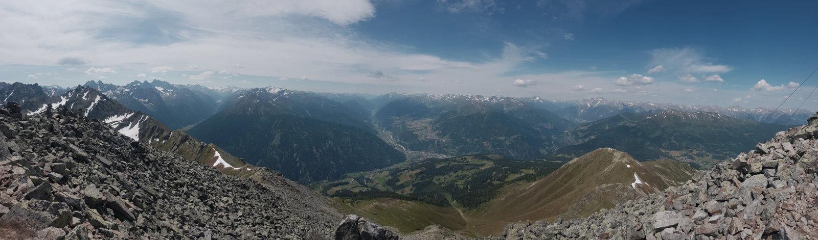 Ausblick ins Tal Kleine Aifner Spitze