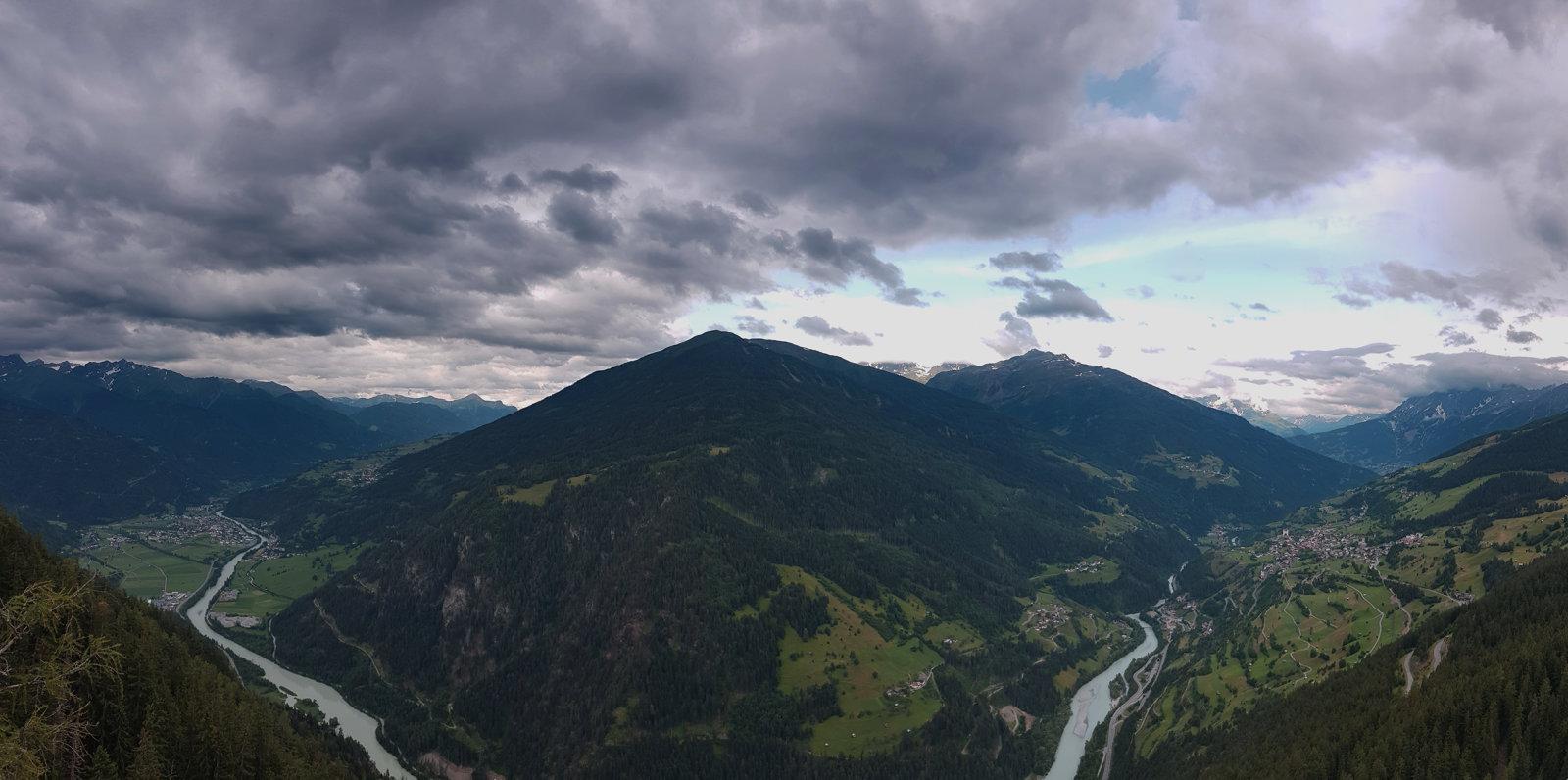 Ausblick Gacher Blick Naturparkhaus Kaunergrat