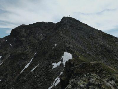 Der Gipfel der Hohen Aifner Spitze ist schon in Sicht