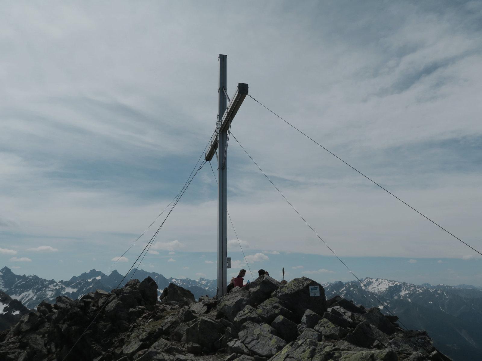 Österreich Tirol Aifner Spitze Gipfelkreuz