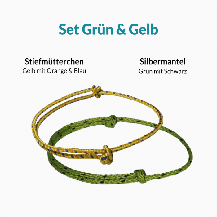 Alpenband fertige Sets Grün-Gelb