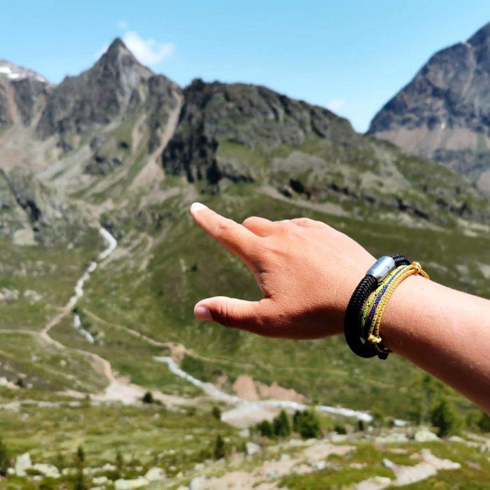 Bergseil Alpensalamander Alpenbänder Outdoorglück Bearbeitet Quadratisch