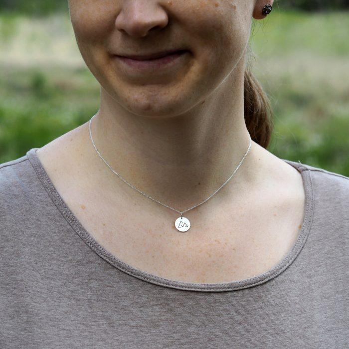 Direttissima Kette Silber am Model Webseite