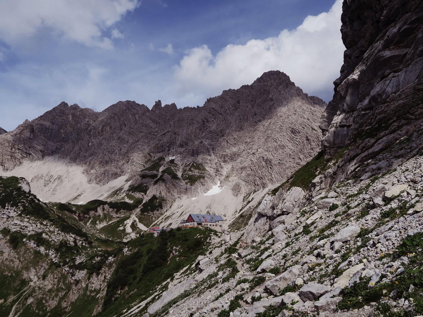 Prinz-Luitpold-Haus in Sichtweite, Hüttentour in den Allgäuer Alpen