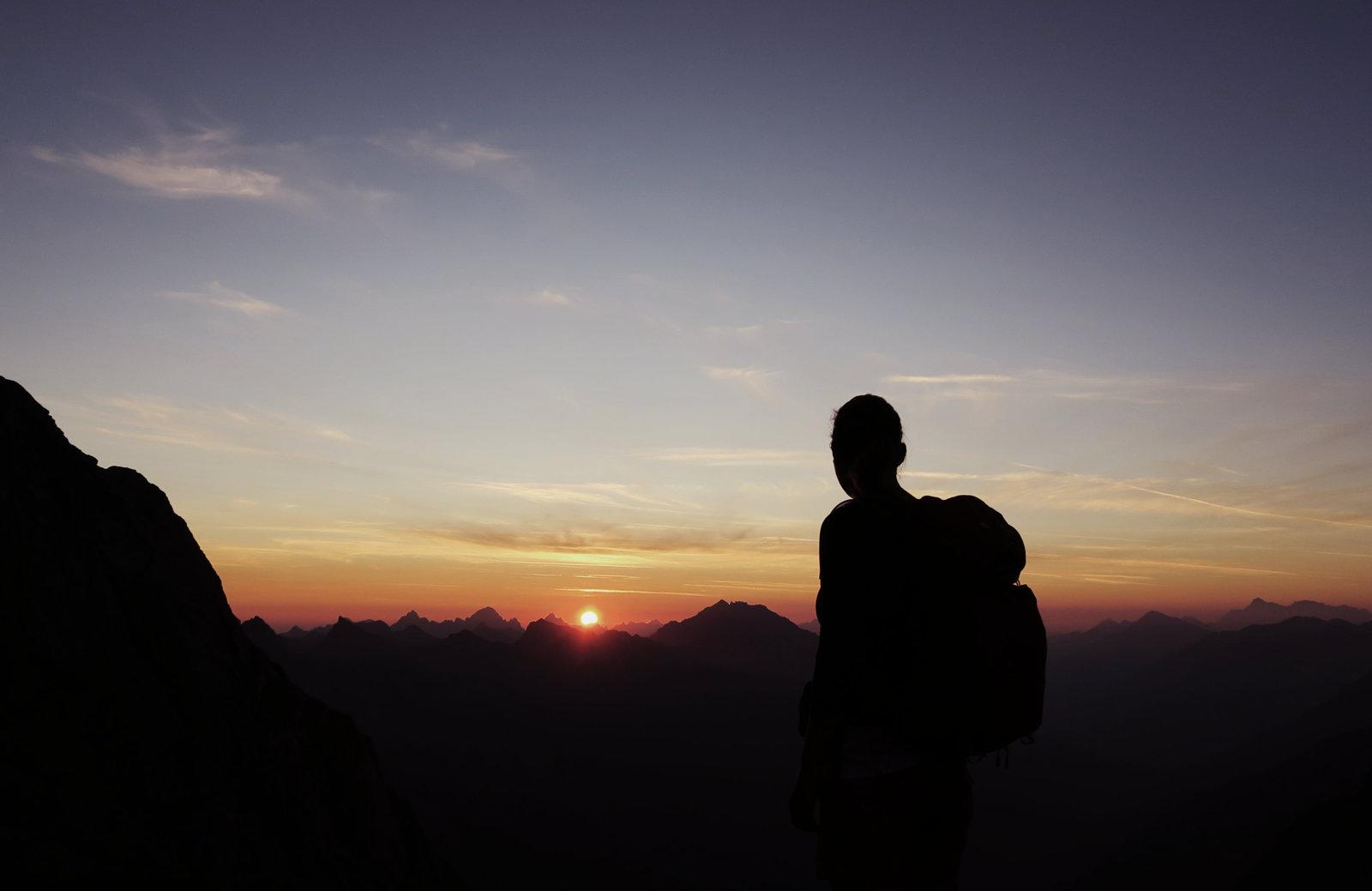 Zum Sonnenaufgang an der Bockkarscharte