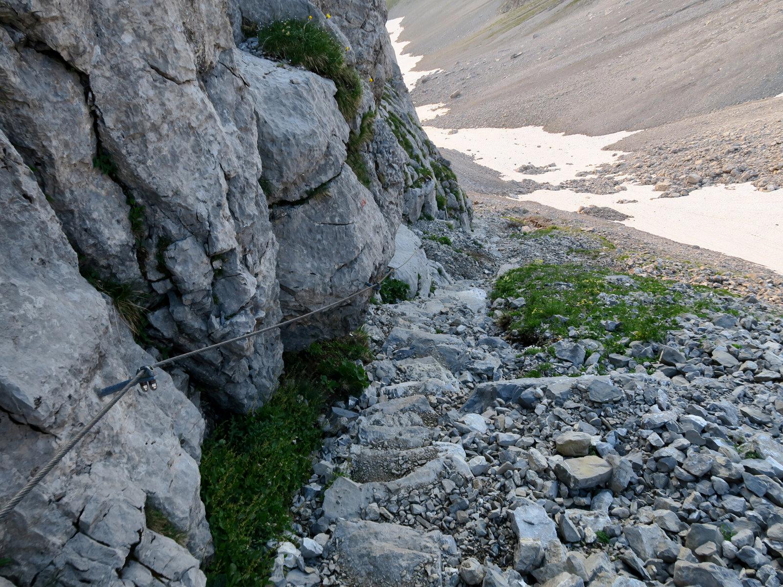 Abstieg von der Bockkarscharte